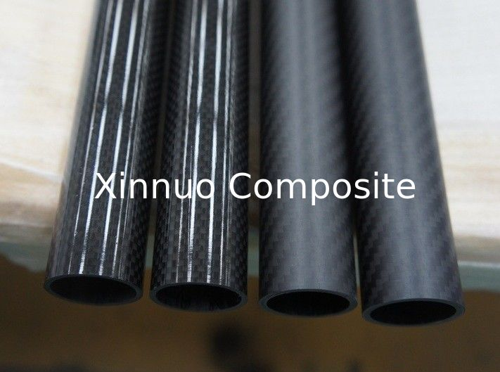 Compare the 3K plain&twill high glossy and matte surface carbon fiber tube